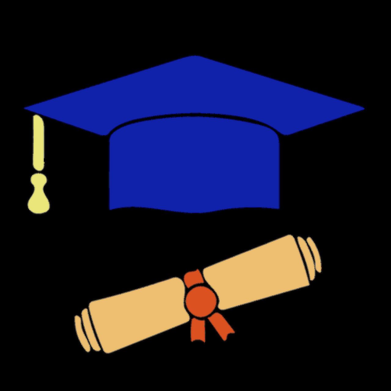 computer icon, graduation, diploma