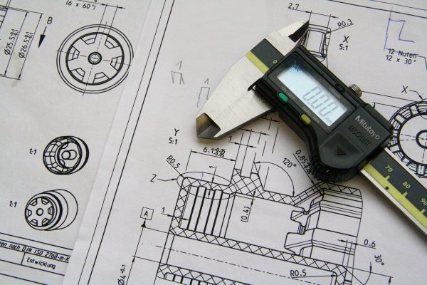 technical drawing, calipers, workshop